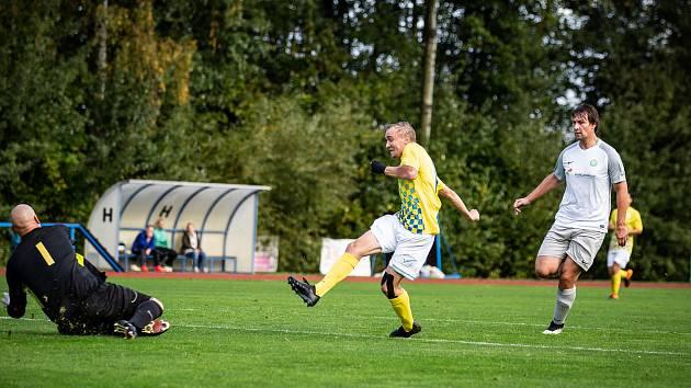 Martin Toman se postaral o úvodní trefu jindřichohradeckých fotbalistů v souboji s Rokycany.