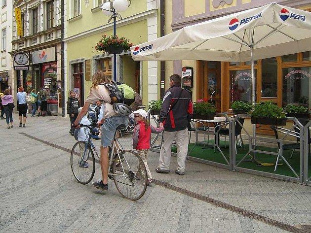 Panská ulice v J. Hradci Ilustrační foto.