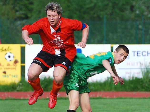 Záložník David Frühauf se postaral o úvodní trefu fotbalistů FK J. Hradec v duelu s Č. Krumlovem, který domácí vyhráli 3:2.