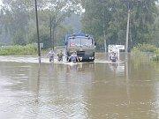 Povodně 2002 na Jindřichohradecku. Suchdol.