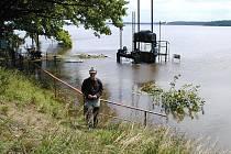 Povodně 2002 na Jindřichohradecku. Rožmberk.
