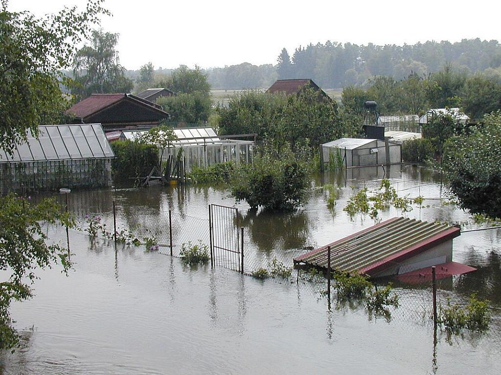 Povodně 2002 na Jindřichohradecku. Třeboň.