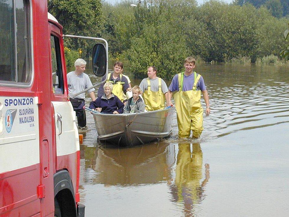 Povodně 2002 na Jindřichohradecku.
