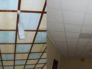 V kulturním domě v Jersici opravili stropy.