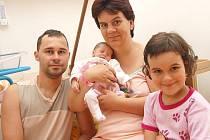 Nikola Emrová z J. Hradce, 30. června 2009, 2800 gramů, 50 centimetrů