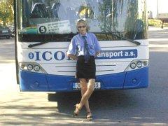 Jaroslava Paďourková řízení kamionu vyměnila za autobus Městské hromadné dopravy v Jindřichově Hradci.