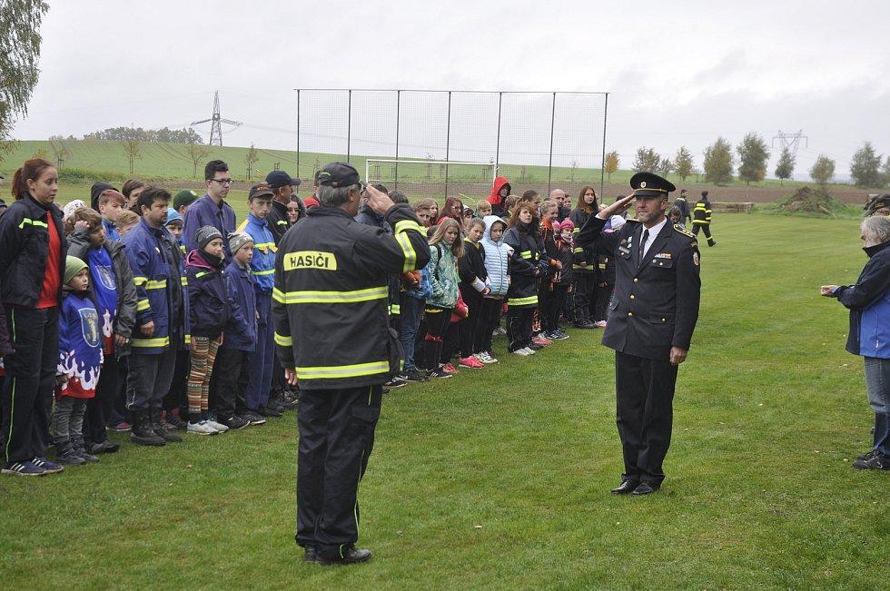 Okresní soutěž SH ČMS - Závod požárnické všestrannosti mladých hasičů a dorostu v Novosedlech nad Nežárkou.