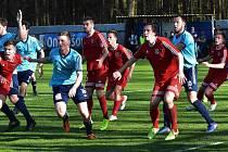 Fotbalisté Třeboně zvítězili v Katovicích 2:1, kdy domácí v závěru zahodili pokutový kop.