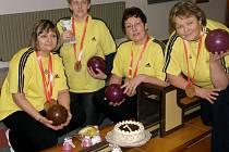 První Babský přebor v kuželkách vyhrály ženy z Kardašovy Řečice.