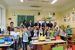 První školní den na základní škole Komenského v Dačicích.