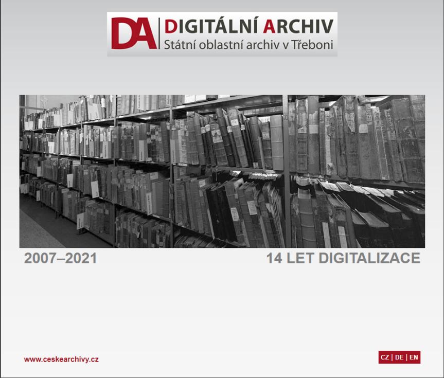 Digitalizace ve Státním oblastním archivu v Třeboni.