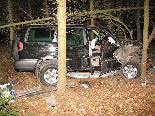 Jedna z nehod na křižovatce u kuniferu v Jindřichově Hradci.