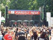 V zámeckém letním amfiteátru v Dačicích se každé léto koná Rockfest.