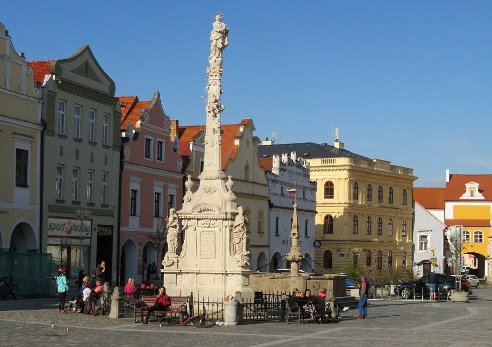 Neděle 25. dubna v Třeboni.