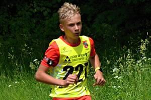 Jindřich Koutný z KB Staré Město vyhrál regionální závod ve Vimperku v kategorii žáků do 15 let.