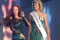 Iveta Lutovská oblékla při finálovém večeru České Miss také šaty od světoznámé módní návrhářky Blanky Matragi.