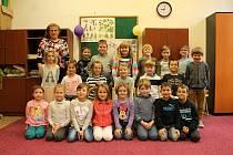 Žáci prvního ročníků ze základní školy v Chlumu u Třeboně.