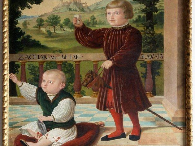 Jáchyma a jeho bratra Zachariáše znázorňuje obraz z roku 1529, kde jsou vymalováni jako děti s tvářemi dospělých. Originál nalezneme na zámku Červená Lhota, kopii v Telči.