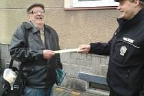 Při preventivní akci X se policisté zaměřili na chodce.