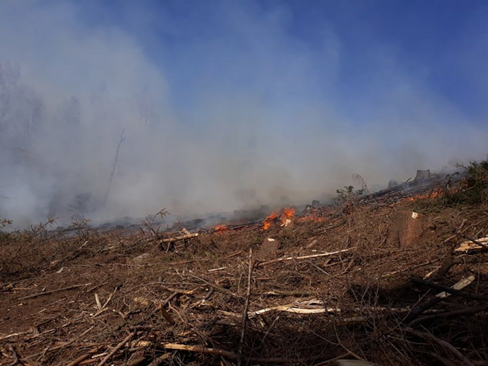 Rozsáhlý požár lesa ve Světlé u Studené, kde se nacházelo několik ohnisek požáru. Vlivem větru se ohniska rozhořela na čtyři velké požáry a dva menší.