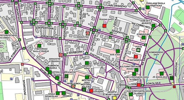 VTřeboni aktualizovali bezbariérovou mapu města včetně plánku městského úřadu.
