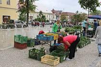 Farmářské trhy v Jindřichově Hradci. Ilustrační foto.