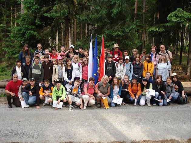 Hauptschule Dobersberg a Základní škola ve Slavonicích pokračují projektem Grázlova stezka ve své spolupráci.