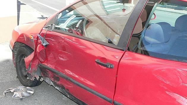 Havarovaný Chevrolet Spark