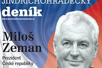Novým prezidentem byl zvolen Miloš Zeman.