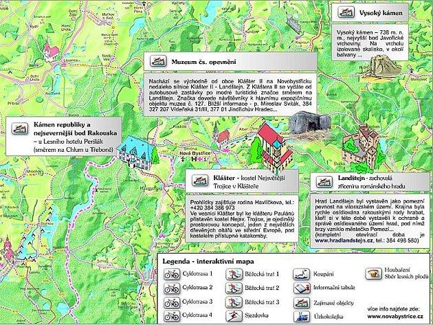 Interaktivní mapy Nové Bystřice