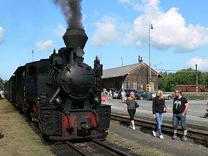Parní vlak. Ilustrační foto