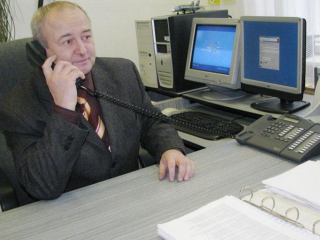 Vedoucí jindřichohradeckého policejního  územního odboru vnějších služeb Jaroslav Bárta.
