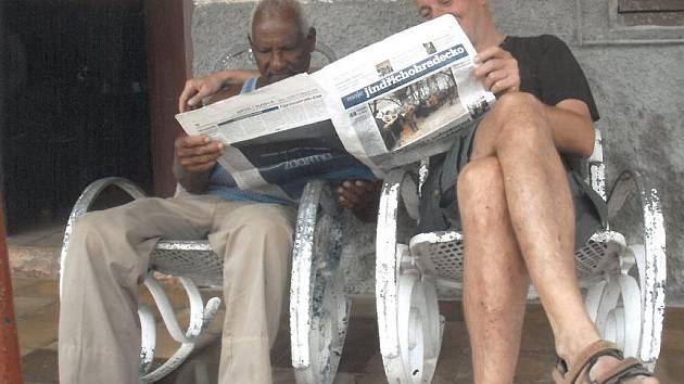 Jindřichohradecký deník se například již podíval v minulosti na Kubu. kam dovezl Ivan Horáček z Chlumu u Třeboně.