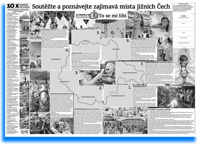 Soutěžte a poznávejte zajímavá místa jižních Čech - soutěž Deníku se rozbíhá.