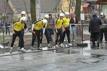 Velikonoční soutěž hasičů ve Zdešově.