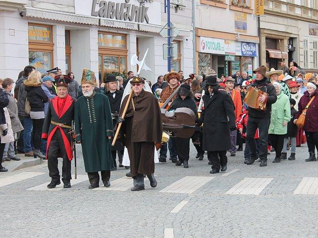 Tradiční masopust v Jindřichově Hradci.
