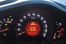 Teploměr v autě ukazoval v pondělí ráno ve Světcích u Deštné hodnotu minus 19,5 stupně.