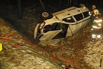 Dopravní nehoda u Suchdola nad Lužnicí.