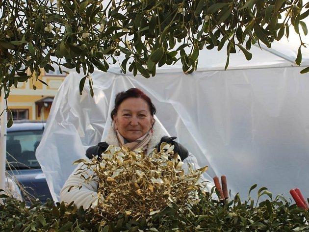 JMELÍ dotváří tu správnou vánoční atmosféru. Květoslava Ranglová z Jindřichova Hradce ho prodává již řadu let.