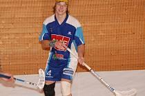 K oporám jindřichohradeckých florbalistů patří 19letý Michal Hřebíček, který se střelecky prosadil v obou posledních utkáních Slovanu ve III. lize s Táborem i Pelhřimovem.