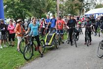 Podzimní jízda cyklistů s názvem Přes kopec na Hradec aneb Jindřichohradecký pedál.