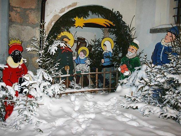 Betlém u  kostela v Deštné. Ilustrační foto.