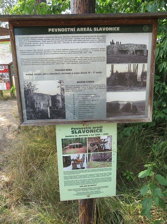 Areál opevnění Slavonice je ukázkou obranné linie Československé republiky z let 1935 až 1938. Je tvořen jedenácti objekty vz. 37 (typy A,C a D) a jedním vz. 36-C.