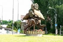 Kruhový objezd U Kaprů v Třeboni.