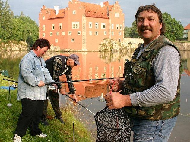 Zámecký rybník hostil rybáře