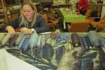 Pro Národní památkový ústav opravují v Ateliérech tapiserií v Jindřichově Hradci staré kousky, které ozdobí vimperský zámek.