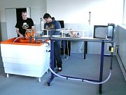 NOVÁ UČEBNA v střední rybářské škole v Třeboni simuluje tvorbu odtoku vody z povodí.