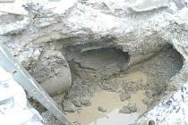 Oprava vodovodního potrubi.