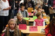 První den v 3. základní škole v Jindřichově Hradci.