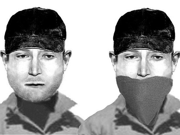 PORTRÉT. Policejní identikit pachatele loupežného přepadení ve Stráži nad Nežárkou.